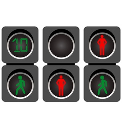Pedestrian traffic lights vector