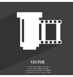 Negative films icon symbol flat modern web design vector