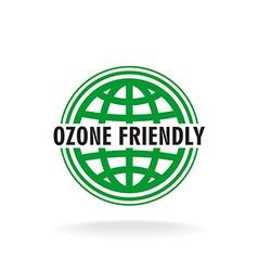 Ozone friendly sign globe green symbol vector