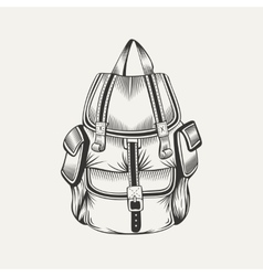 Hiking backpack vector