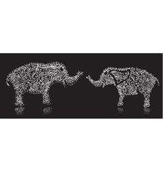 Stylish design elephant vector