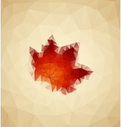 Abstract maple vector