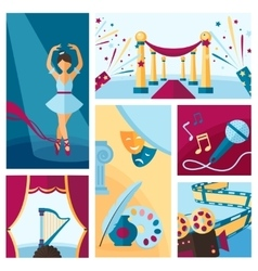 Art and culture decorative banners set vector