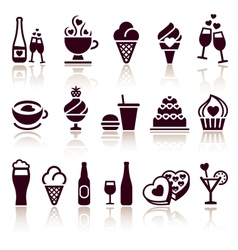 Set food icons vector