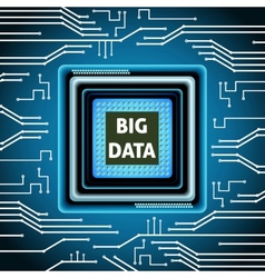Microchip big data background vector