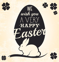 Easter greeting card with rabbit vector