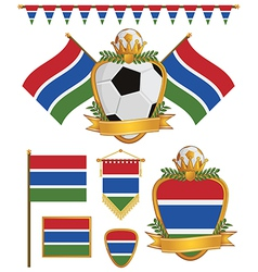 Gambia flags vector