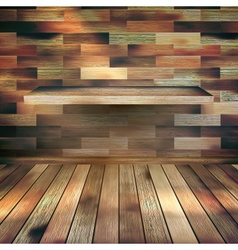 Empty interior with wood shelf eps 10 vector