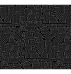 Black and white printed circuit board vector