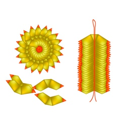 Chinese gold made of joss paper vector