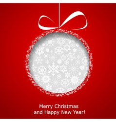 Abstract christmas ball vector
