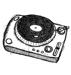 Scribble series - turntable vector