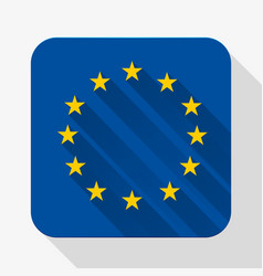 Simple flat icon europe union flag vector