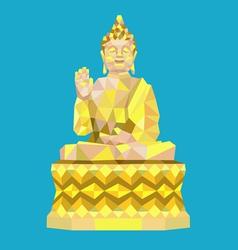Buddha low polygon style vector