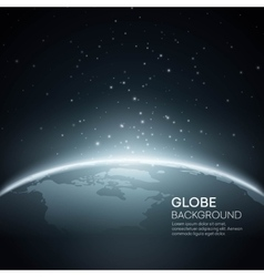 Background with planet earth globe vector
