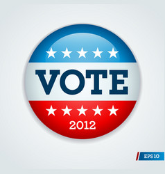 Vote 2012 button vector