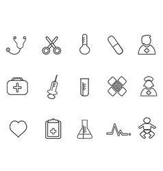 Simple medical outline icon vector