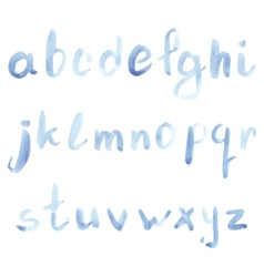 Set of watercolor handwriting font vector
