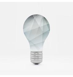 Lightbulb idea symbol 3d  can vector