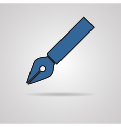 Pen icon on gray background vector