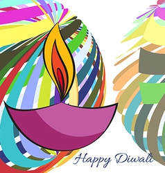 Colorful background of diwali vector