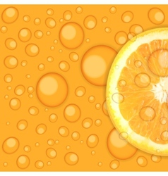 Fresh juicy orange background vector