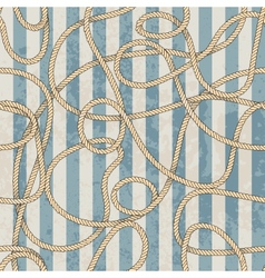 Ropes pattern in marine style vector