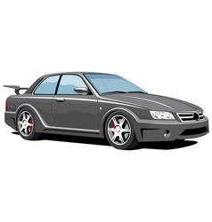 Black sports car vector