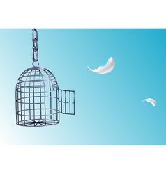 Opened cage vector