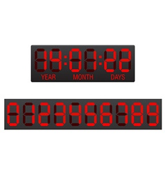 Digital countdown timer 02 vector