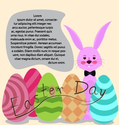 Easter day for card vector