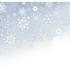 Winter stylish background with snowflakes vector