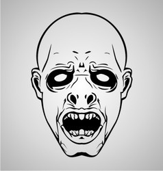 Zombie face vector