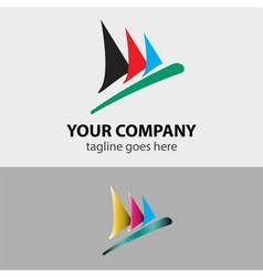 Sailboat speed sign symbol vector