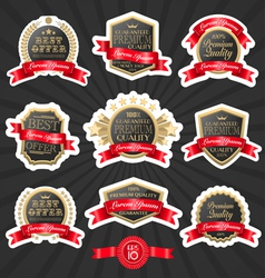 Premium quality label set 1 vector