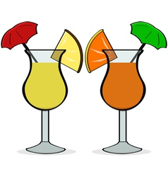 Umbrella drinks vector