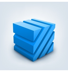 3d cube on white background vector
