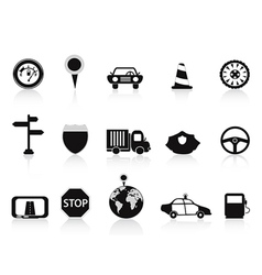 Black traffic icon vector