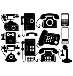 Mobile and public phones vector