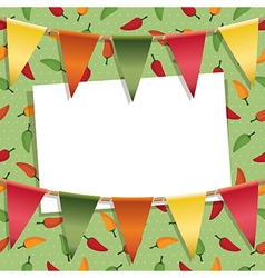 Chili pepper decoration vector