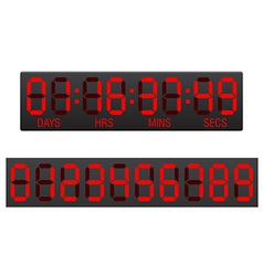 Digital countdown timer 03 vector