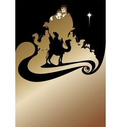 Wise men gold vector