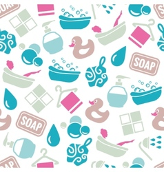 Bath seamless pattern vector