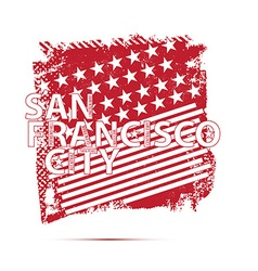San francisco city emblem vector