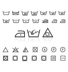 Washing signs vector