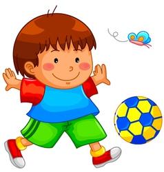 Playing kid vector