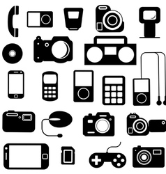 Icon with electronic gadgets vector