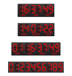 Digital countdown timer 04 vector