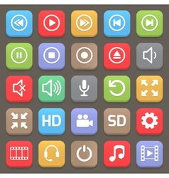 Video interface icon for web or mobile vector