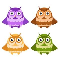Cartoon owls vector